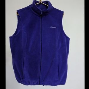 Columbia fleece vest in purple. Size 1X